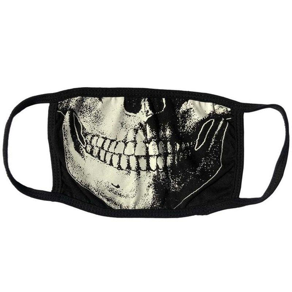 Death Skull Face Mask - White