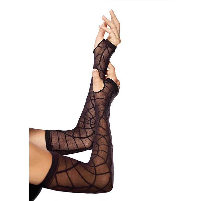Sheer Spiderweb Arm Warmer
