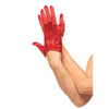 Cropped Satin Gloves - Red