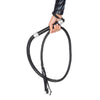 Rhinestone Handle Vegan Leather Whip