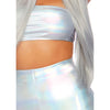 Holographic Spandex Bandeau & Shorts Set