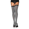 Striped Stockings - Black/White