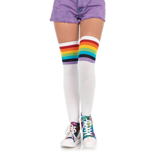 Rainbow Pride Trimmed Socks