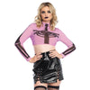 Skeleton Mesh Crop Top - Pink
