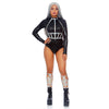 Studded Holographic Vinyl Body Harness