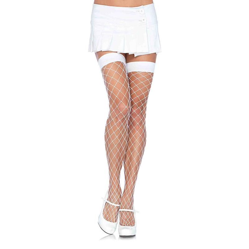 White Vixen Fence Net Thigh-Highs