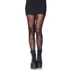 Skull and Crossbones Fishnet Pantyhose