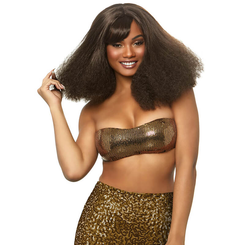 Diva Disco Wig in Brown