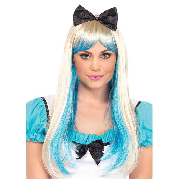Alice Two Toned Wig with Attached Bow