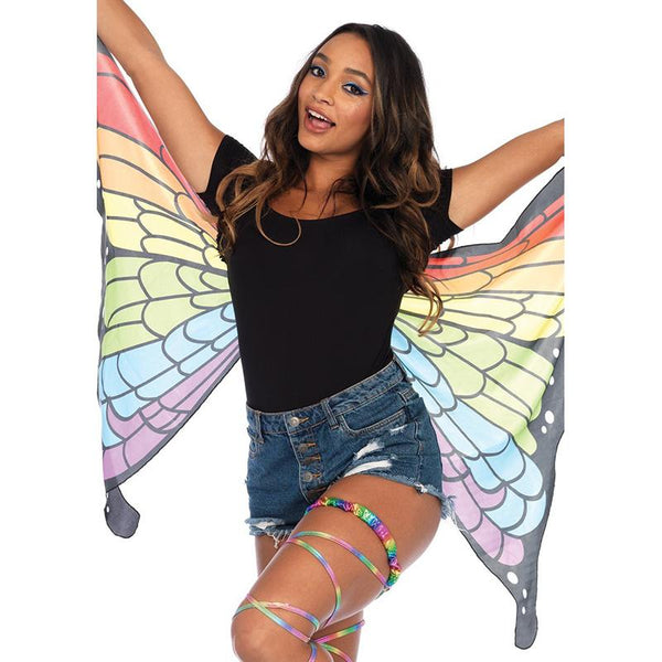 Rainbow Mini Butterfly Wings Cape