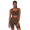 Spandex 2 Piece Bodysuit- Dark Tan