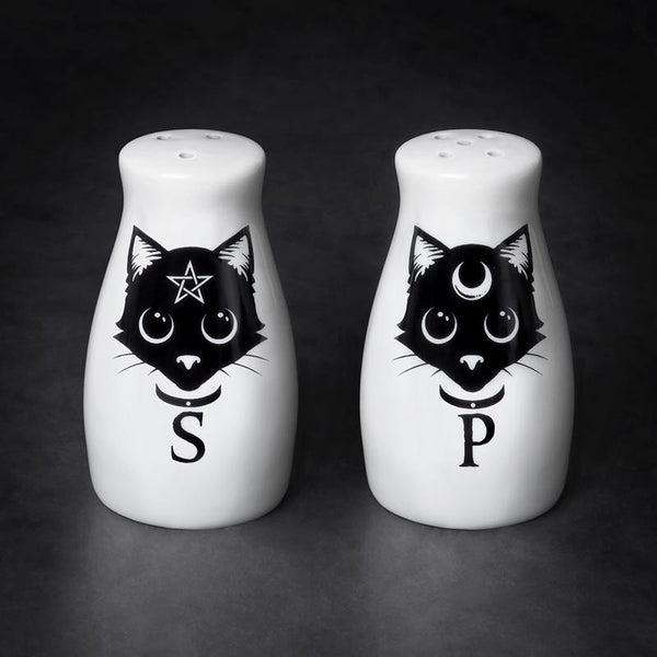 Lunar Cat Salt and Pepper Shakers