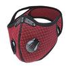 Playa Ready Filtering Maroon Cycling Mask - IN STOCK