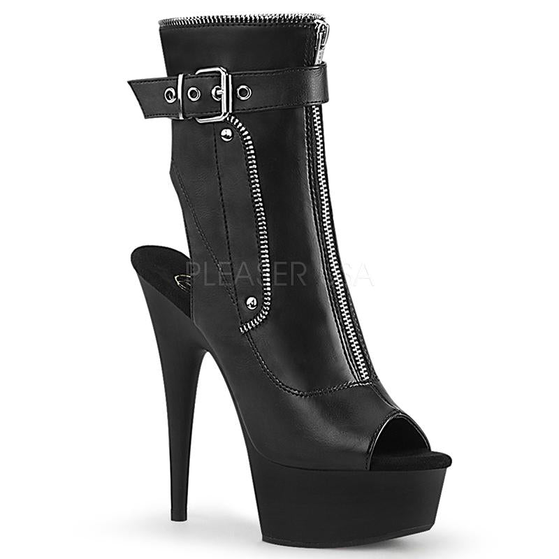 Zipped Spike Heel Boots