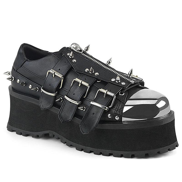Zipped and Spiked Crusher Sneakers