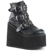 Disco Heart Ankle Stompers - Flat Black