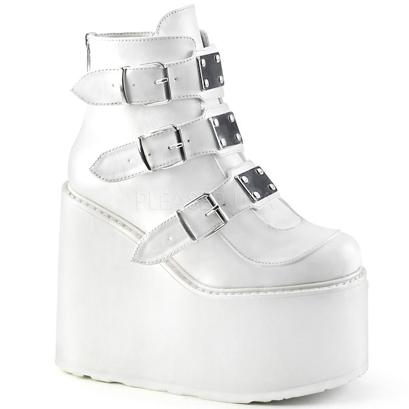 Strapped Platform Stompers - White