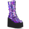 Disco Heart Platform - Holographic Purple