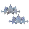 Silver Glitter Star Cover Pasties