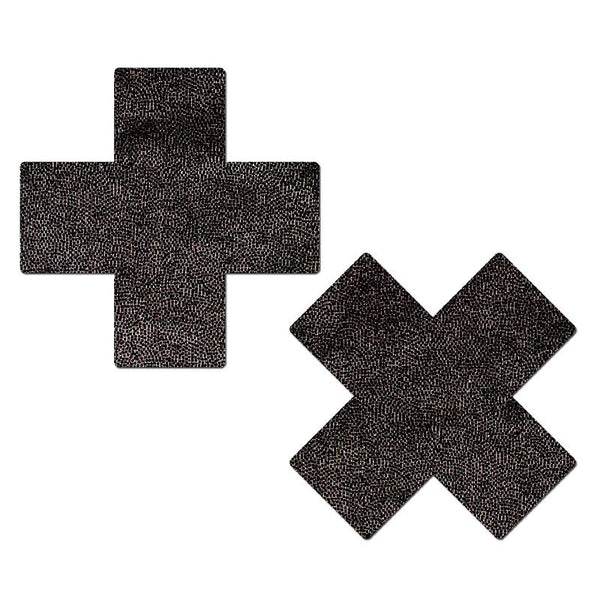XX Liquid Black Cross Nipple Pasties
