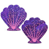 Purple Glitter Seashell Nipple Pasties