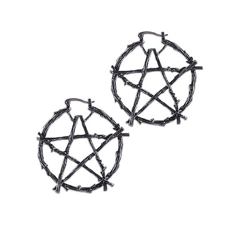Sacred Branch Pentagram Earrings