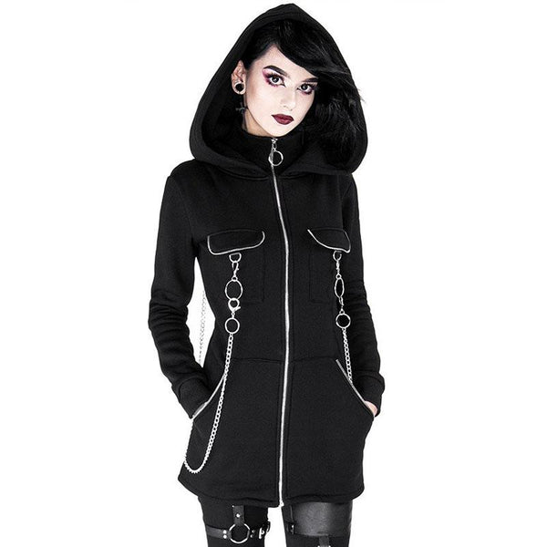 Chained Desires Zipped Hoodie