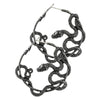Slithering Serpent Earrings - Silver