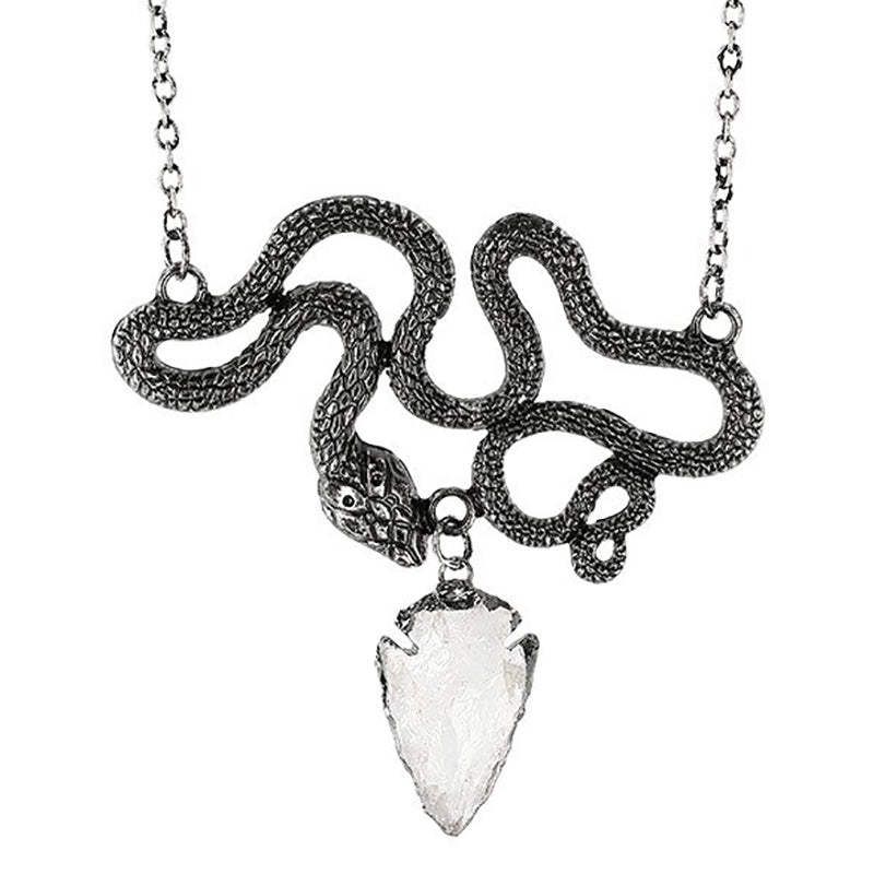 Slithering Serpent Necklace in Silver