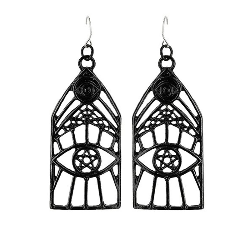 Evil Eye Caged Earrings