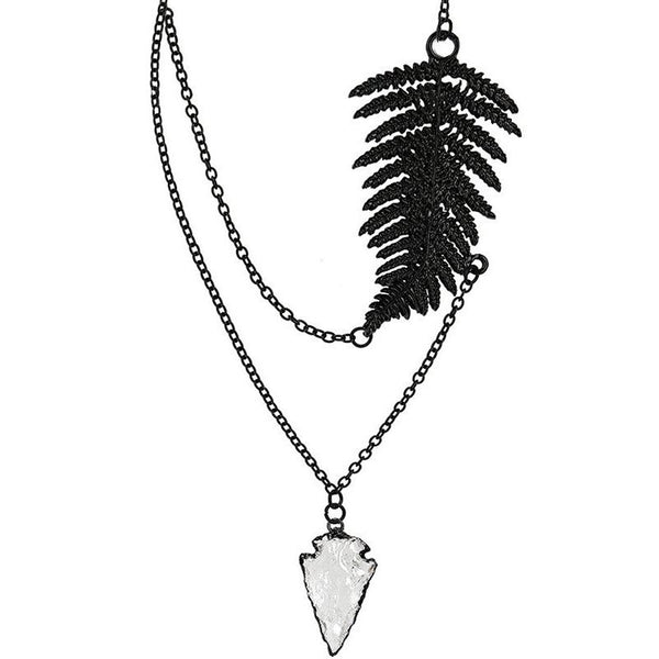 Floating Fern Necklace in Silver