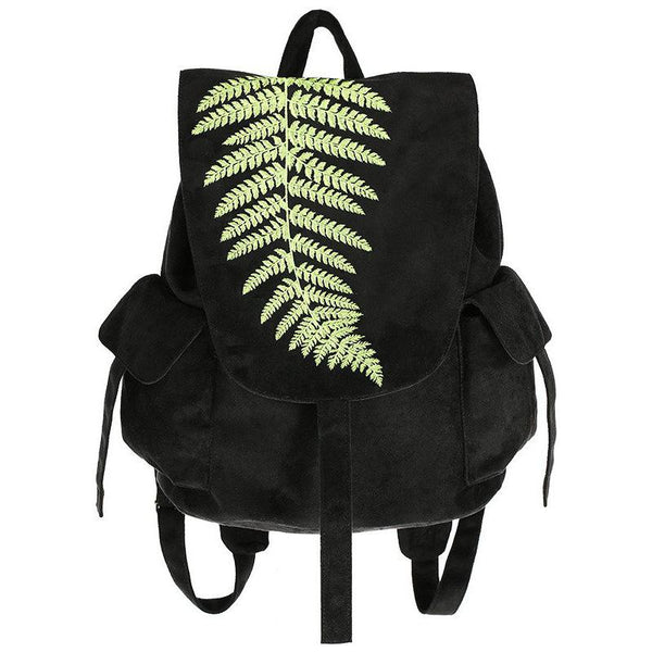 Forest Witch Fern Suede Backpack