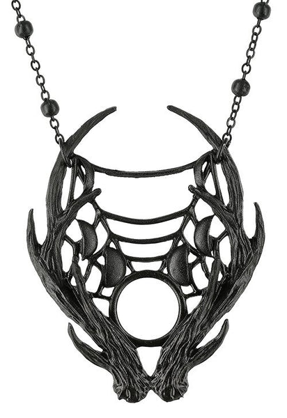 Moon Antlers Necklace - Black