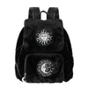 Sun and Moon Faux Fur Backpack