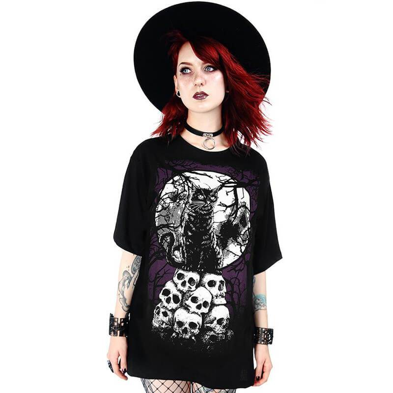 Morbid Kitty Oversized T-Shirt