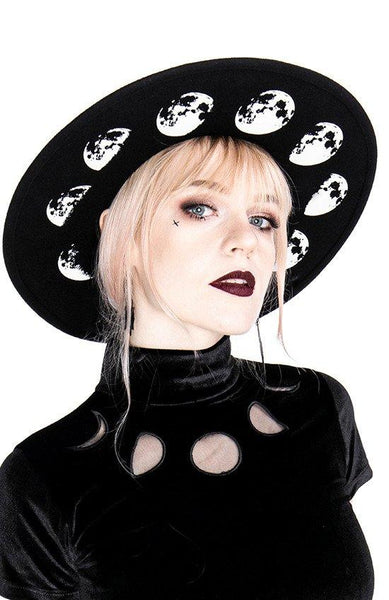 Moon Phases Wool Hat