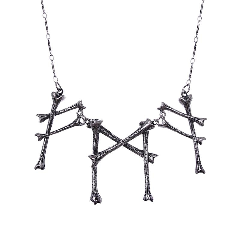 Cast the Runes Bone Necklace