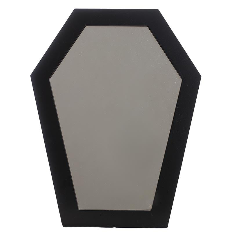 Coffin Shaped Mirror - Black