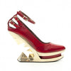Size 10 - Sheen Red Patent Anti Gravity Heel