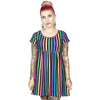 Rainbow Stripe Babydoll Dress