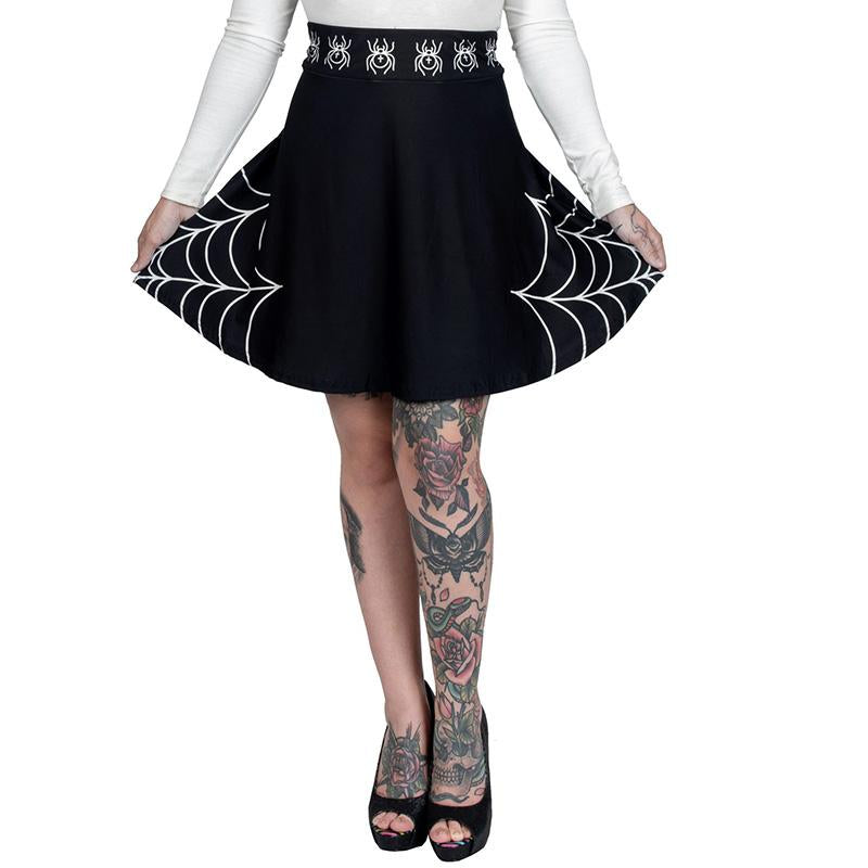 Webbed Attraction Skater Skirt