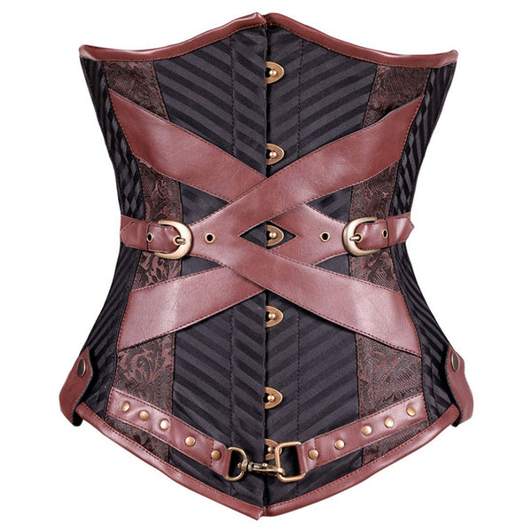 Leather & Buckles Steampunk Underbust Corset