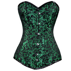Green Ivy Long Overbust Corset