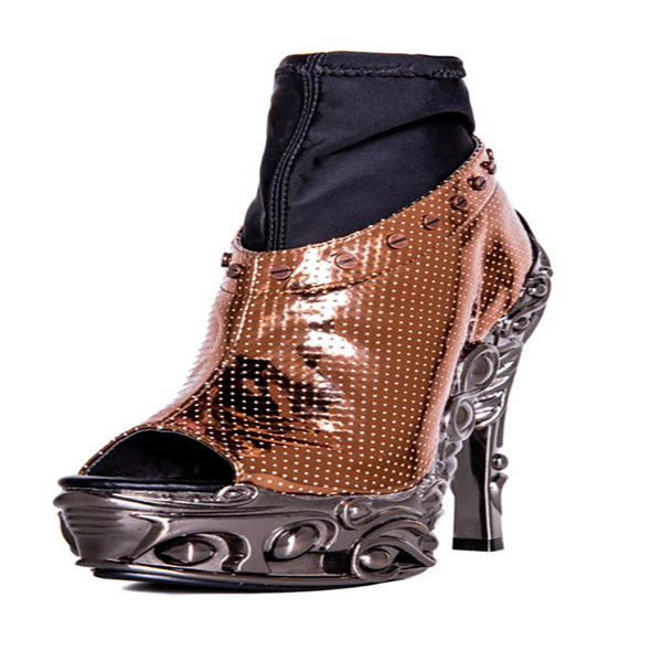 Size 10 - High Valerian Spiked Heels - Rose