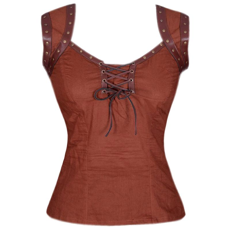 Steampunk Tops | Blouses, Shirts Arianna Steampunk Top $38.00 AT vintagedancer.com