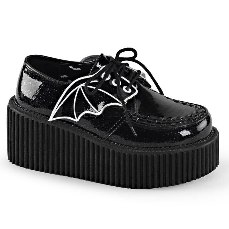 Batty Glittered Creepers - Black