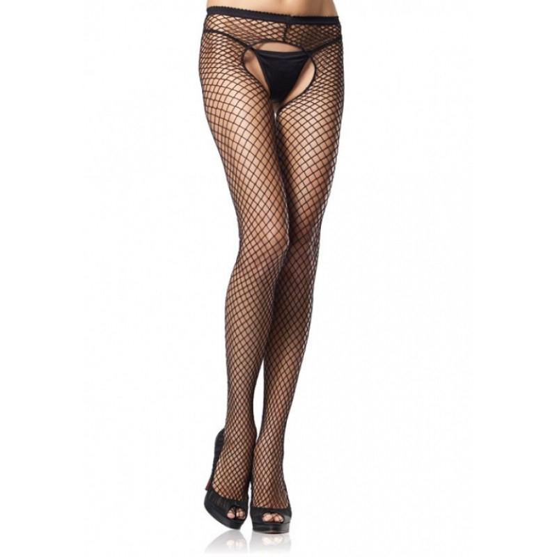 Crotchless Fishnets High-Waist Pantyhose
