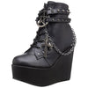 Darkly Charmed Platform Ankle Boots