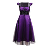 Size Medium - Gothic Dots Dress - Purple