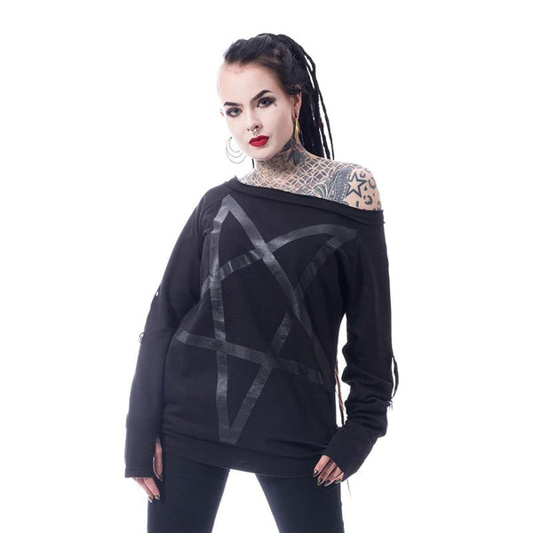 Dark Pentagram Off Shoulder Top